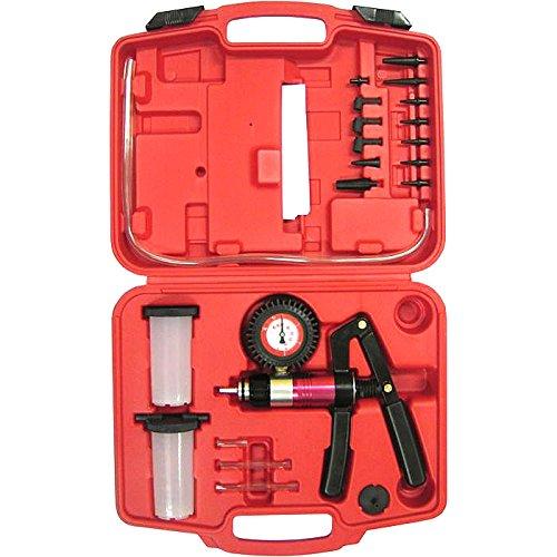 Hand Held Vacuum and Pressure Pump Tester Kit  Brake Fluid Bleeder  Adapters