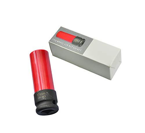 ITEQ Protective Wheel Lug Nut Socket for Mercedes Benz with 17mm Convex Flower Head Lug Nut Socket