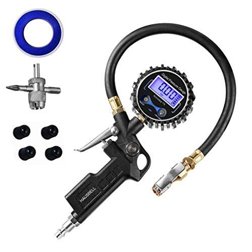 HAUSBELL Digital Tire Pressure Gauge Air Pressure Gauge Tire Pressure Gauge Digital Tire Gauge 0~250 PSI Range Air Chuck