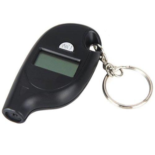 SODIALR Mini Portable Digital LCD Tire Tyre Wheel Air Pressure Gauge Tester Keychain For Car PSI KPA BAR KGCM black