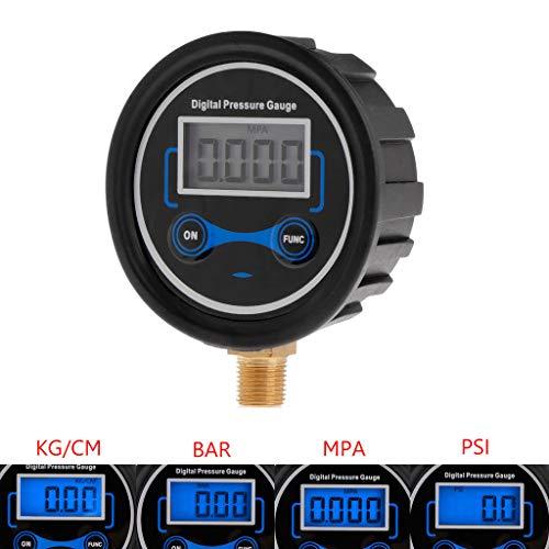 YUNAWU Digital Tire Pressure Gauge Car Bike Motorcycle Tyre Tester Air PSI Meter 18NPT