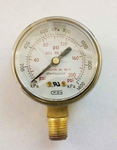 G20-200 GENTEC 2 inch Pressure Gauge 0-200 PSI