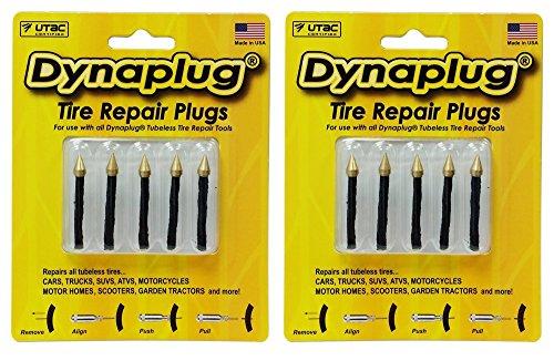 Dynaplug Puncture Repair for Tubeless Tires 10-Repair Plugs 1 5 Pack plus 1 5 Pack Made in USA
