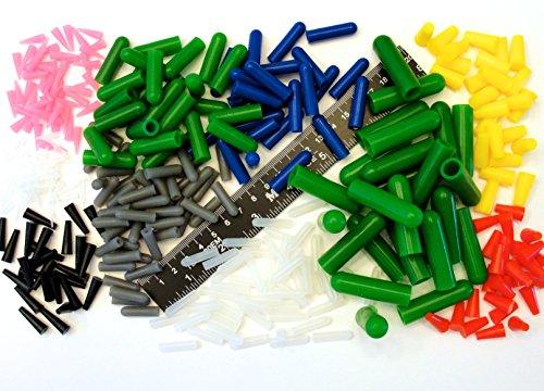 350pc Ultra Precision High Temp Silicone Rubber Plug Cap Kit Powder Coating Custom Paint Supplies