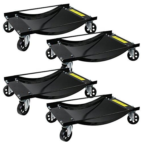 Smartxchoices 4 PCS 4 X 35 Tire Skates 4 Tire Wheel Car Dolly Ball Bearings Skate Tire Premium Skates Wheel Makes Moving A Car Easy Rated at 4000lbs