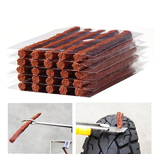Flat Tire Plug Puncture Repair StringsFirwood Tyre Repair Rubber Sealing Strip 85 Extra Length for Off-road Car Bike Motor ATV UTV SUV Wheelbarrow Mower 25PCS Flat Tire Plug String