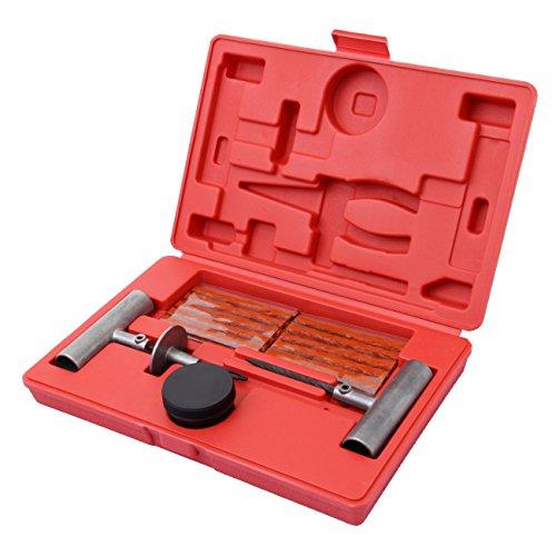 Iglobalbuy 35pcs Tire Repair Tool Kit DIY Flat Tire Repair Kit for TruckCarMotorcycleATVUTVJeepLawnmower Flat Tire Puncture Repair