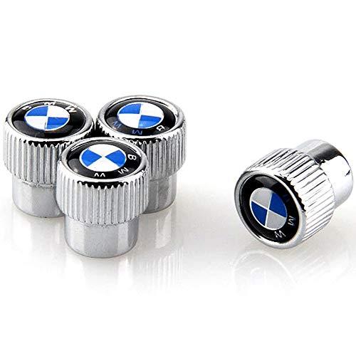 Valve Stem Caps Zinc Alloy Plating Chrome Tire Valve Stem Valve Caps For BMW Set of 4