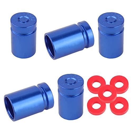Winka 5 Pcs Aluminum Bullet Style Wheel Tire Valve Stem Caps Blue