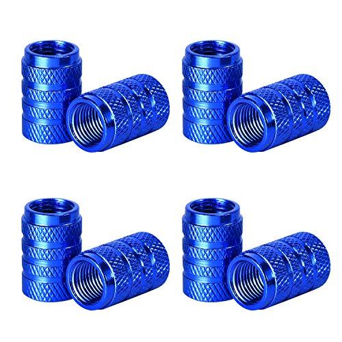 eBoot Tire Stem Valve Caps Aluminium Car Dustproof Caps Tire Wheel Stem Air Valve Caps 8 Pieces Blue