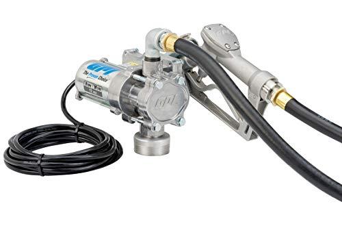 GPI 137100-01 EZ-8 Fuel Transfer Pump 8 GPM 12-VDC Manual Nozzle 10 Hose 15 Power Cord