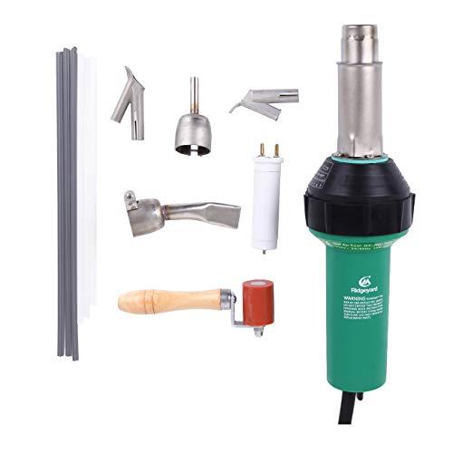 Ridgeyard Professional 110V 1600W Plastic WelderWelding Hot Air Gun Hot Air Torch Plastic Welding Gun Welder Pistol