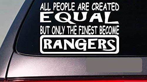 Rangers All People Equal 6 StickerE474 Decal Vinyl Welding Park Wildlife Vinyl Decal for Cars Trucks Laptops