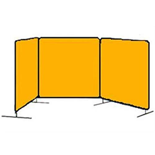 Tillman 6013666 6X6 14mil 3 Panel Yellow Vinyl Welding Curtain with