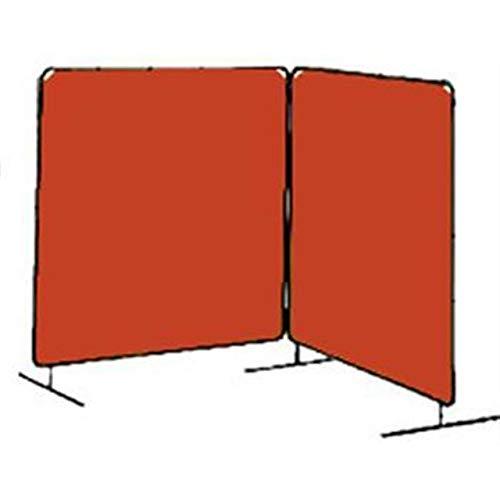 Tillman 6032066 6X6 14mil 2 Panel Orange Vinyl Welding Curtain with Frame
