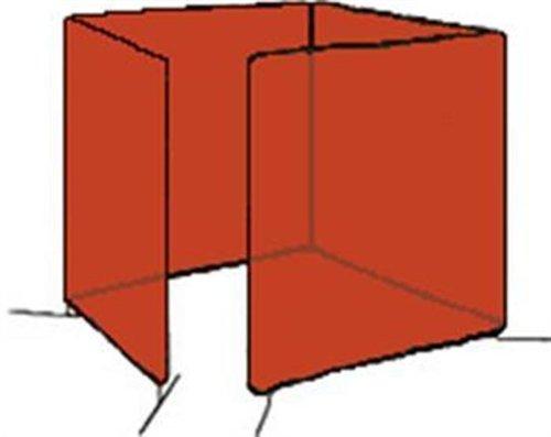 Tillman 6034868 6X8 14mil 4 Panel Orange Vinyl Welding Curtain with