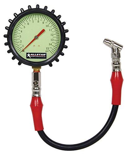 Allstar Performance ALL44046 4 Tire Pressure Gauge 0-15 PSI 1 Pack