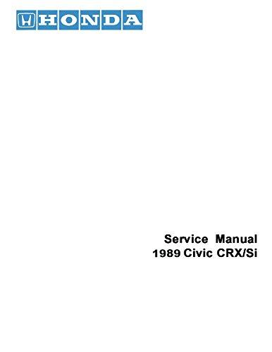 1989 Honda Civic CRX  Si Shop Service Repair Manual Book Engine Electrical OEM