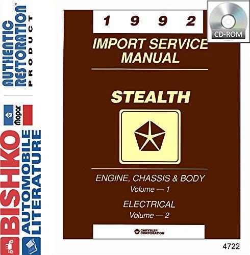 1992 Dodge Stealth Shop Service Repair Manual CD Engine Electrical Drivetrain