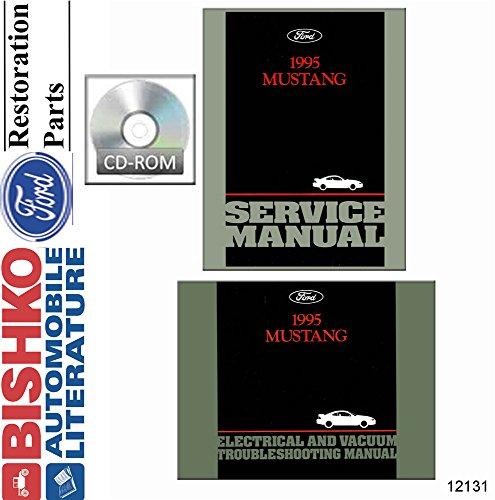 1995 Ford Mustang Shop Service Repair Manual CD w ETM Engine Electrical OEM
