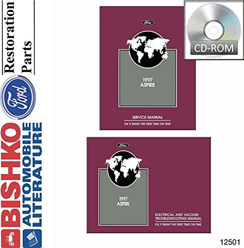 1997 Ford Aspire Shop Service Repair Manual CD w ETM Engine Electrical OEM