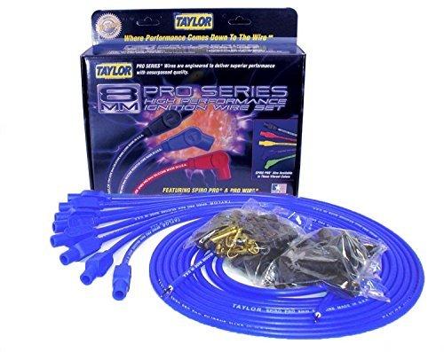 Taylor Cable 73655 Spiro-Pro Blue Spark Plug Wire Set