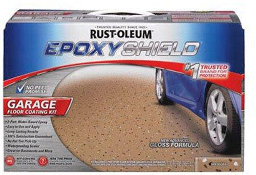 Rust-Oleum 261846 50 Voc - 25 Car Epoxy Shield Garage Floor Kit Tan