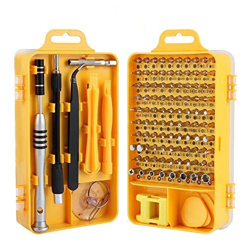 Screwdriver Set Trekoo 110 in 1 Precision Screwdriver Repair Tool Kit Magnetic Driver Kit Professional Repair Tool Kit for iPhone X 8 7  CellphoneComputerTabletPCelectronic etc Yellow
