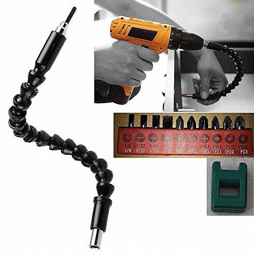Alaigo Flexible Shaft drill connecting link for Electric Screwdriver Drill Bit Black