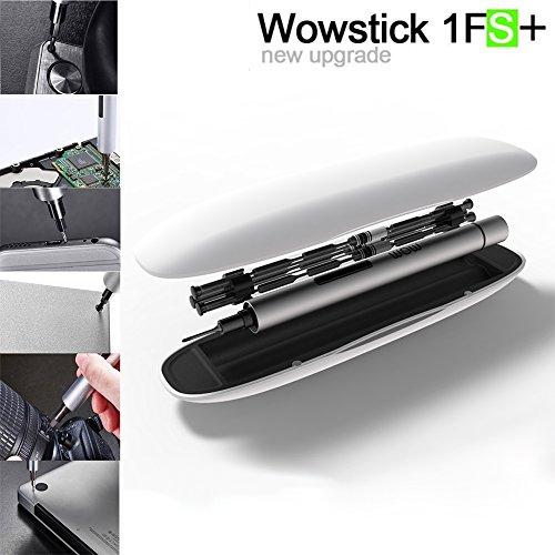 Elecguru Wowtation Electric Screwdriver cordless Pocket Power Screwdriver DIY Tool with 18 Bits LED wowstick 1FS1