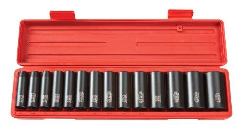TEKTON 12-Inch Drive Deep Impact Socket Set Inch Cr-V 6-Point 38-Inch - 1-14-Inch 14-Sockets  4880
