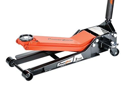 Powerzone 380057 BlackOrange 2 Ton Professional Quick Lifting Service Jack with Long Lifting Range 2-916 to 23-1316