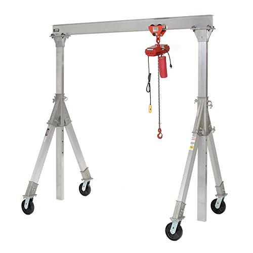 Vestil Aluminum Gantry Crane AHA-4-12-10 Adjustable Height - 4000 lb Capacity