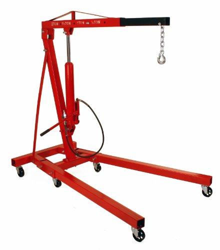 Dragway Tools 2 Ton Folding Air Hydraulic Engine Hoist Cherry Picker Shop Crane Hoist Lift
