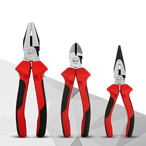3PCSset Industrial Pliers Needle-nose pliers Vise Diagonal pliers tool kit W113
