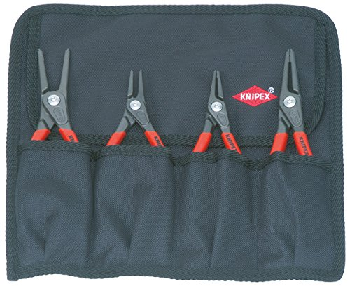Knipex Tools 00 19 57 4-Piece Precision Circlip Pliers Set In Tool Roll