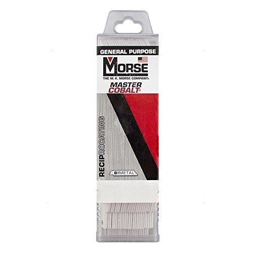 25 Pc Pack MK Morse Master Cobalt Bi-Metal 18 TPI Reciprocating Saw Blades Metal Steel Wood Cutting for Industrial Shop DIY Hobby AutoAndArt
