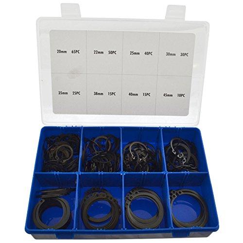 External CirclipSnap Retaining Ring Assortment Set 250pc 20mm - 45mm AST20