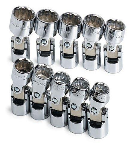 SK 3911 10 Piece 38-Inch Drive 12 Point 10-Millimeter to 14-Millimeter Flex Socket Set
