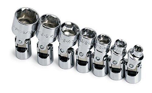 SK 4934 7 Piece 14-Inch Drive 6 Point 316-Inch to 916-Inch Flex Socket Set