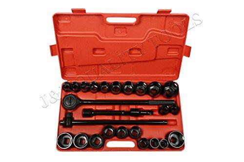 J&R Quality Tools CR-V Drive Impact Socket Set 27 Piece 34
