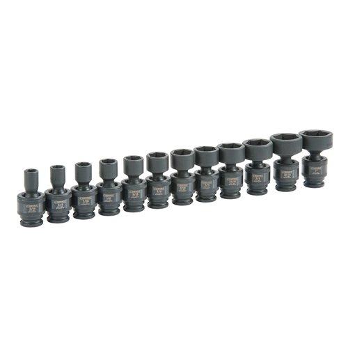 Expert E041634 6-Point Drive Universal Impact Socket Set 38-Inch 12-Piece