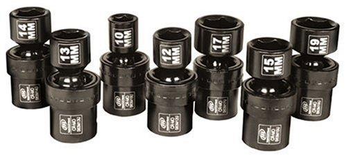 Ingersoll Rand SK3M7U 38-Inch Drive 7-Piece Metric Universal Impact Socket Set