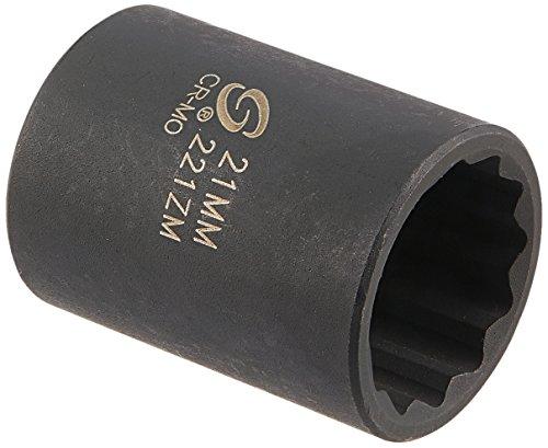 Sunex 221zm 12-Inch Drive 21-mm 12-Point Impact Socket