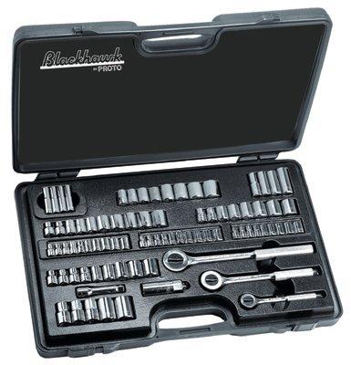 Blackhawk By Proto 9782-B Drive 82-Piece Combination Socket Set Containing 14 38 12-Inch Sockets