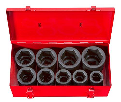 TEKTON 1-Inch Drive Deep Impact Socket Set Inch Cr-Mo 6-Point 1-Inch - 2-Inch 9-Sockets  4892