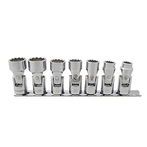 Kobalt 7-Piece SAE 38-in Drive 12-Point Flex Socket Set