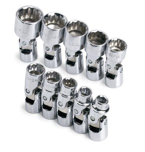 SK 1336 10 Piece 14-Inch Drive 12 Point Flex 5-Millimeter to 14-Millimeter Socket Set