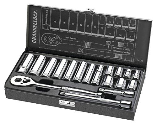 Channellock 38182 38 Drive Metric Socket set 18 Piece