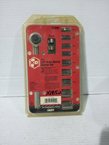 KD Tools 10pc 38 Drive Metric Socket Set 91209